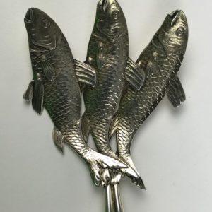 Rare Schiebler silver sardine server