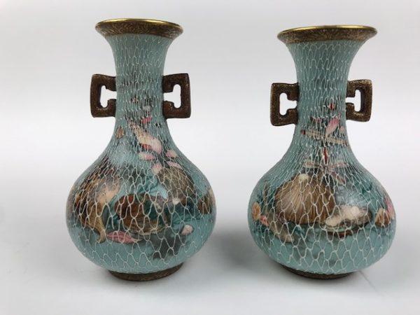 Japanese Satsuma miniature vases