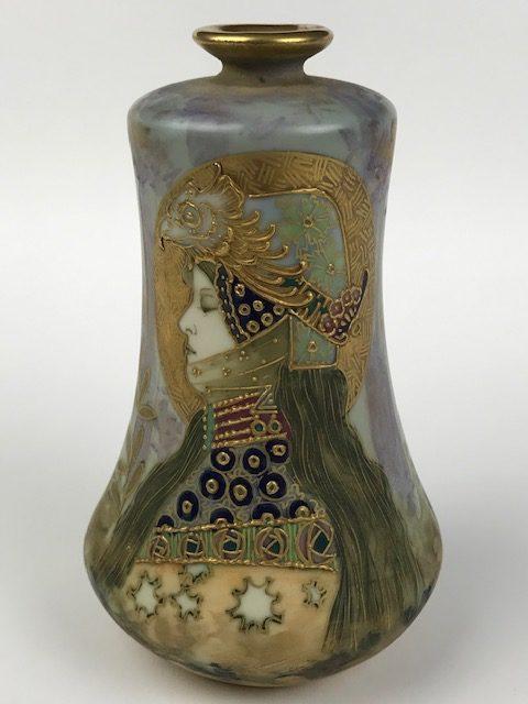 Spectacular Amphora Tern-Teplitz Amphora vase