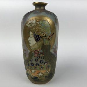 Spectacular Amphora turn-teplitz Art Nouveau vase