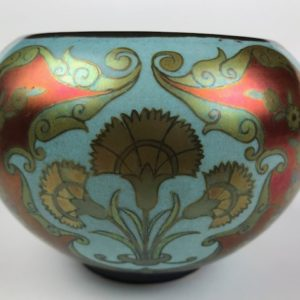 Spectacular and RARE Zsolnay Pecs bowl