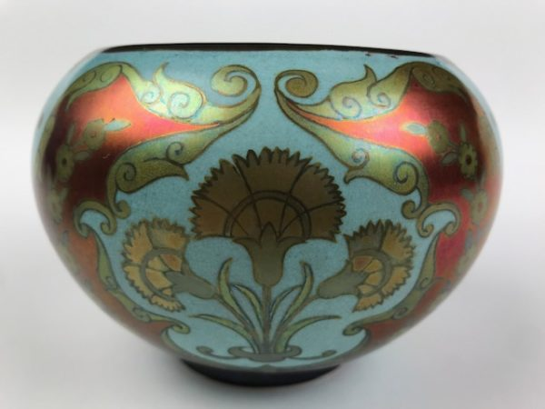 Spectacular and RARE Zsolnay Pecs bowl