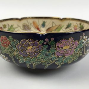 Satsuma bowl with insect decoration